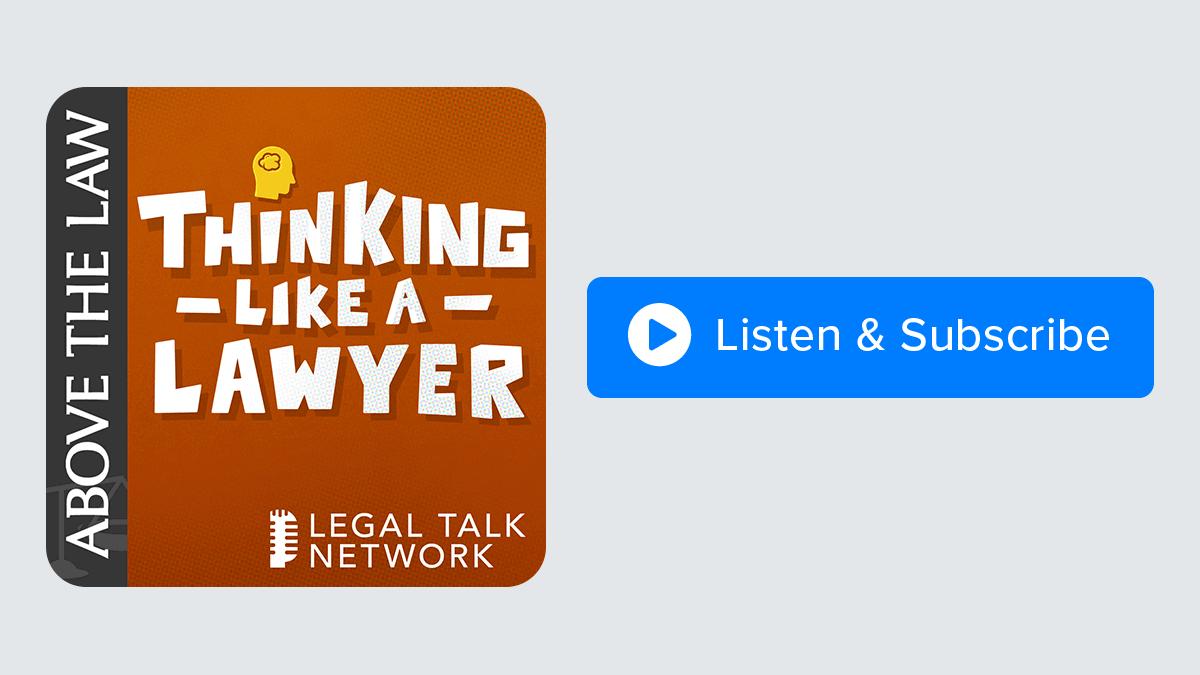 thinking like lawyer og podcast.